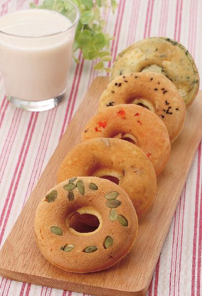 旬の農産物の「大豆ドーナツ」